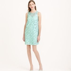 J. Crew Laser-Cut Floral Shift Dress
